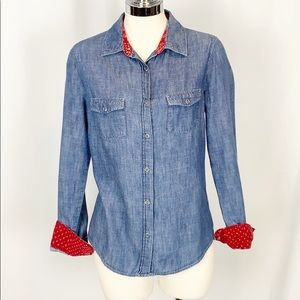 What Goes Around Comes Around Chambray Button Down